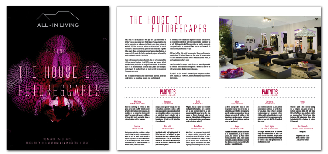 Brochure ontwerp beursstand The House Of Futurescapes